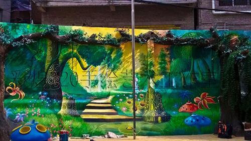 遵义背景墙/酒店壁画/餐厅手绘墙签约画师—桃桃