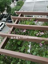 西安沣惠路融侨城楼顶塑木地板廊架