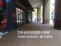 万科-西安金色悦城塑木地板