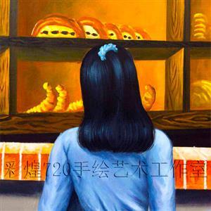 贵州凯里面包店窗前悄然出现一个蓝衣女孩3d彩绘